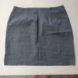 Route 66 blue plaid skirt size 18